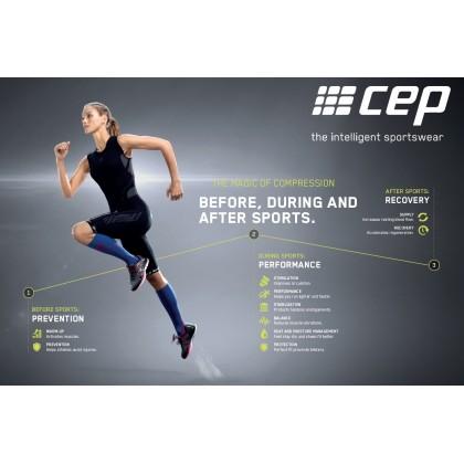 CEP Men's Progressive+ 2.0 Compression Run Socks -Black/Black