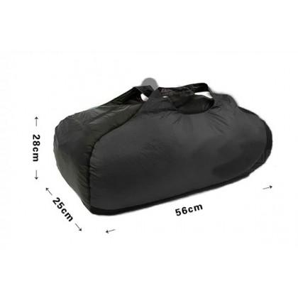 Mountain Adventure Cordura Packable Duffel Bag, Black