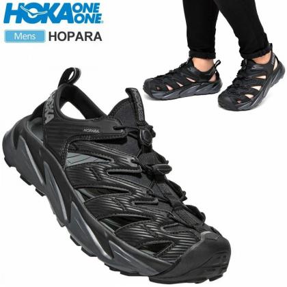 HOKA ONEONE Sandals Men's Hopara, Black