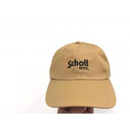 Schott NYC Logo Cap, Khaki