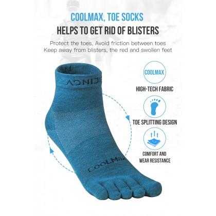 Aonijie Run Ultra-Thin Cushioning Mini-Crew Toe Socks Unisex - Blue