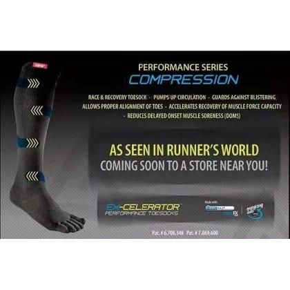 Injinji Original Weight Travel Series Performance Toe Socks - Black