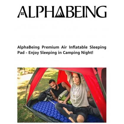 AlphaBeing Camping Sleeping Pad for Backpacking, Hiking, Ultralight Inflatable Air Mattress Waterproof Compact Sleep Mat
