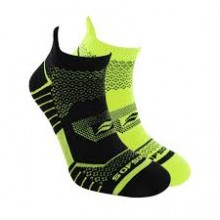 2 Pair Pack SOF SOLE Socks Men's Running Select Low Cut –  (Black/Yellow)