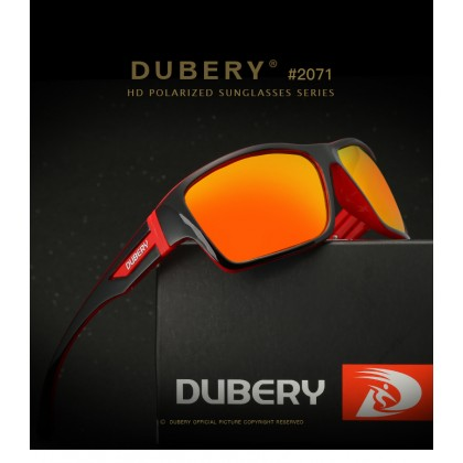 DUBERY DD2071 Polarized Sunglasses Unisex - Black/Red/Red